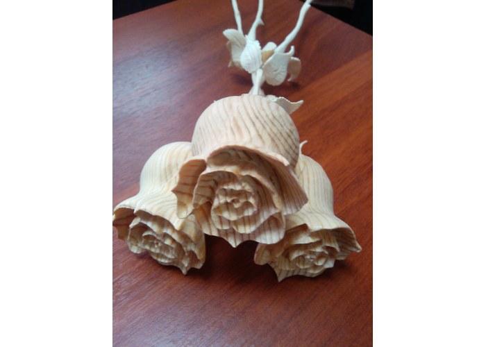 Как сделать розу из дерева своими руками
